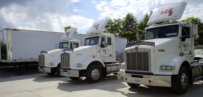 Modern Tractor Trailers Supporting Distribution Services Martinsville VA